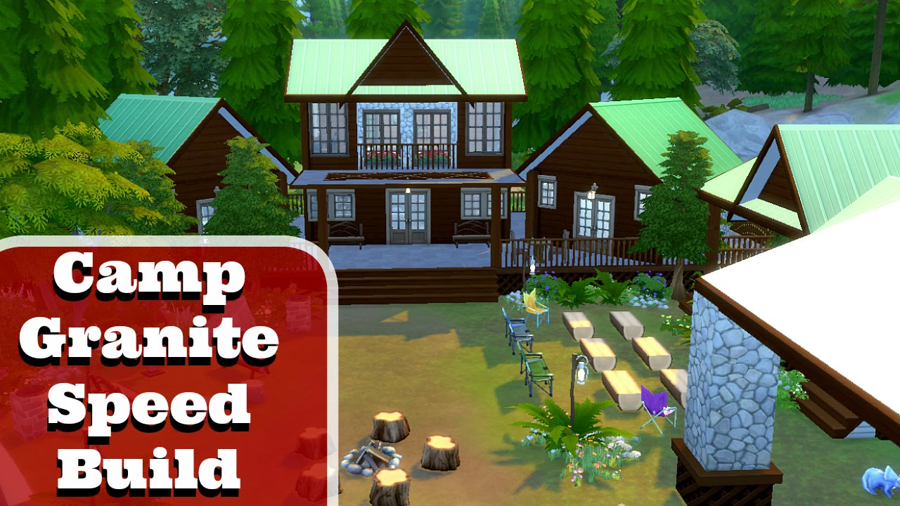 4 Camping The Sims 4 Speed Build Camp Granite Camp Grounds