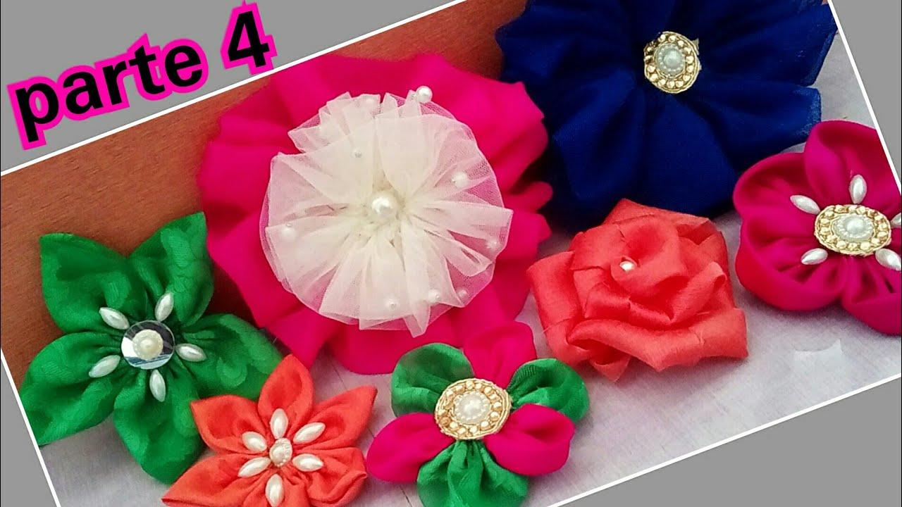 C mo hacer flores de tela f cil flores de tela paso a paso flores de tela para el cabello - Flores de telas hechas a mano ...