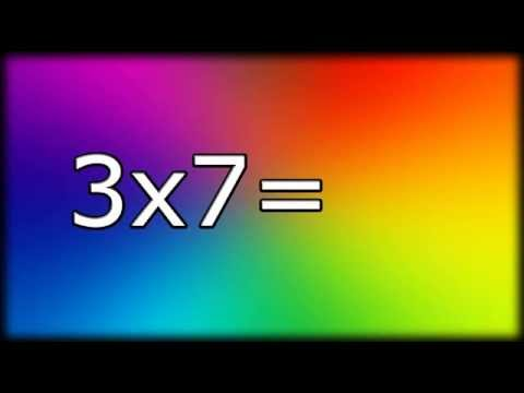 Multiplying For 2nd 3rd Grade Multiplication Flashcards Youtube