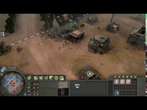 Company of Heroes - Allied (America) Airborne Company Gameplay VS Expert A.I.