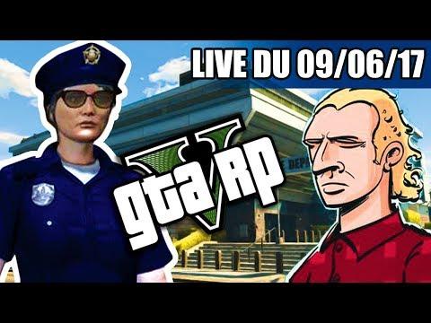 VOD ►GTAV RP MLADEN PORTE PLAINTE - LIVE DU 09/06/2017 HD