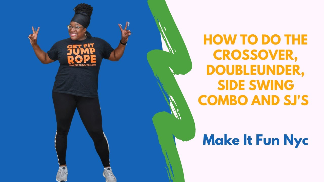 How to do the jump rope crossover, double under, side swing combo and SJ's