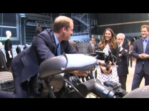 Thumbnail: Prince William, Kate Middleton and Prince Harry play with props at Warner Bros studios