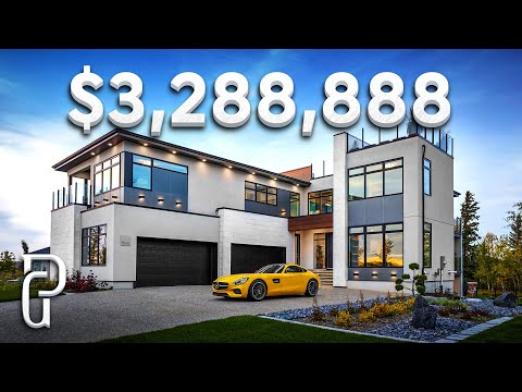 Inside a $3,288,888 Modern Mansion in Edmonton Alberta Canada! | Propertygrams Mansion Tour