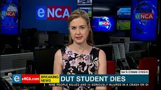 Durban University of Technology student brutally stabbed in a class has died