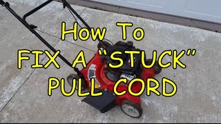 How To Fix a Stuck or Frozen Lawnmower Pull Cord (EASY)