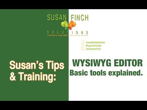 WYSIWYG Editor basics for CMS such as WordPress