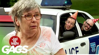 Surprise Police Birthday Party After Being Pulled Over