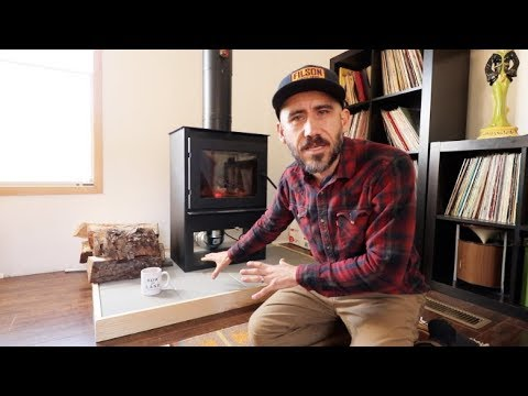 DIY Wood Stove HEARTH in a Mobile Home