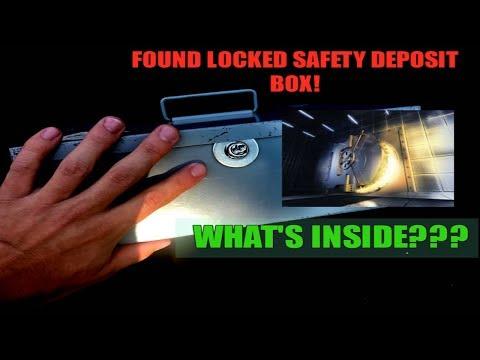 (FOUND LOCKED SAFETY DEPOSIT BOX) Bank Dumpster Dive Night!