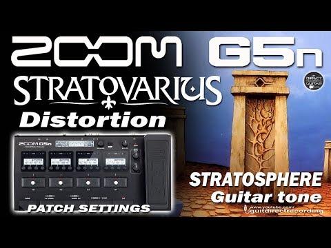 ZOOM G5n STRATOVARIUS Stratosphere Distortion [G5n Patch].