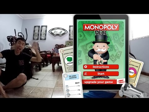MONOPOLY DEAL + APP is FUN   HOUSE RULES   GAME 1