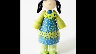 How to make a simple quilling doll