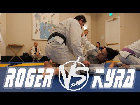 ROGER GRACIE VS KYRA GRACIE - Sparring