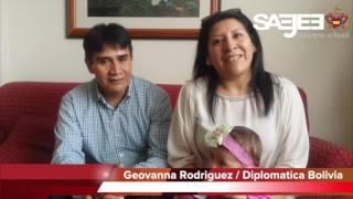 Elder Geovanna Rodriguez Arteaga / Diplomatica Boliviana