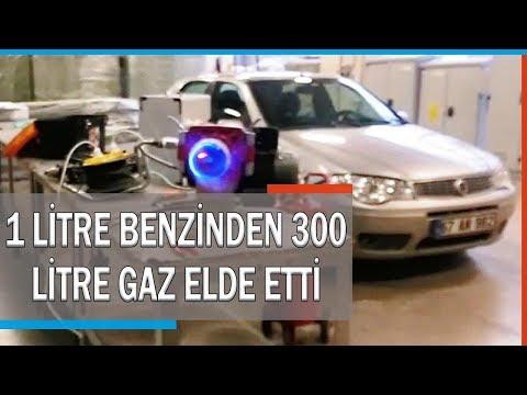 1 Litre Benzinden 300 Litre Gaz Elde Etti