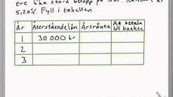 Lån, Ränta & Amortering Ma1b
