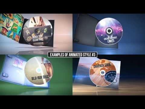 The Media Pack - CD, Blu-Ray, DVD, Digipack After Effects Template