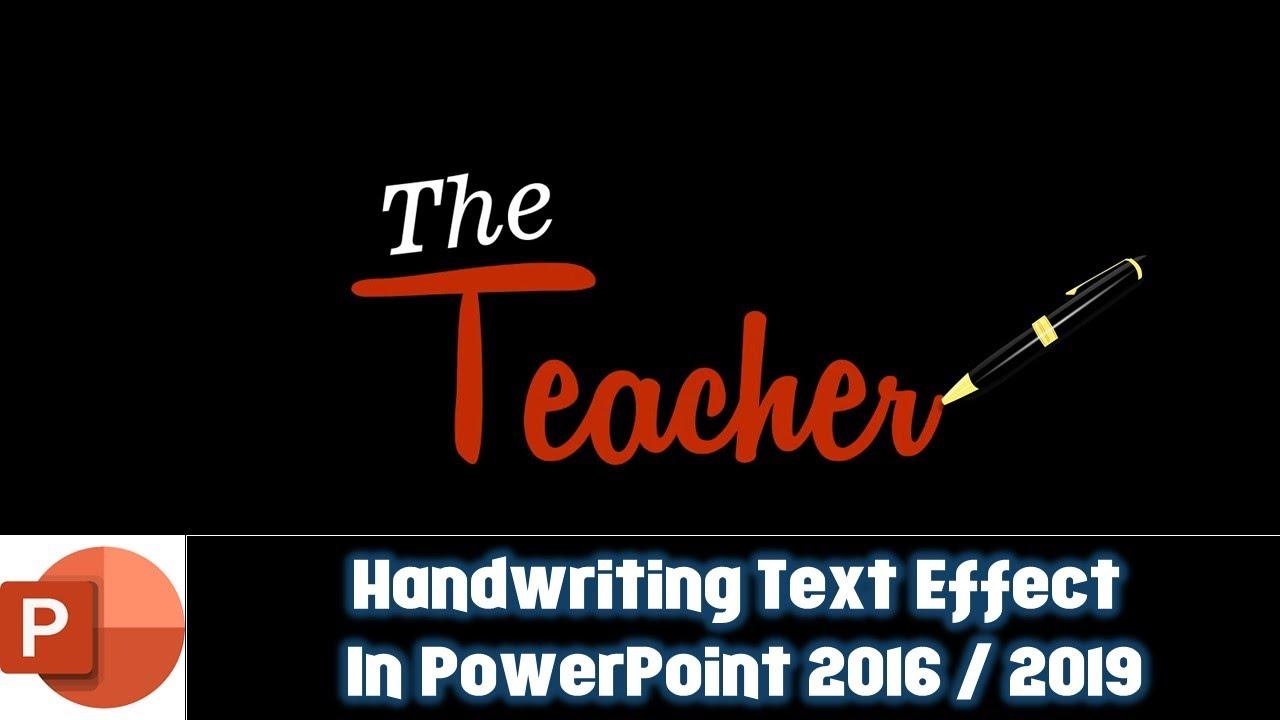 handwriting powerpoint presentation