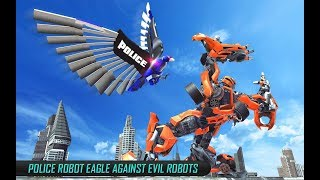 US Police Transform Robot Car Cop Eagle Game (By Kick Time Studios) Android Gameplay HD