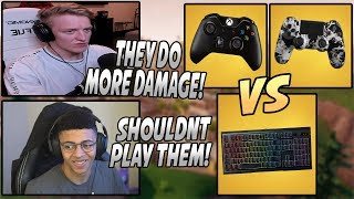 Tfue & Myth Explain Why Playing Against CONSOLE Players Is ANNOYING!