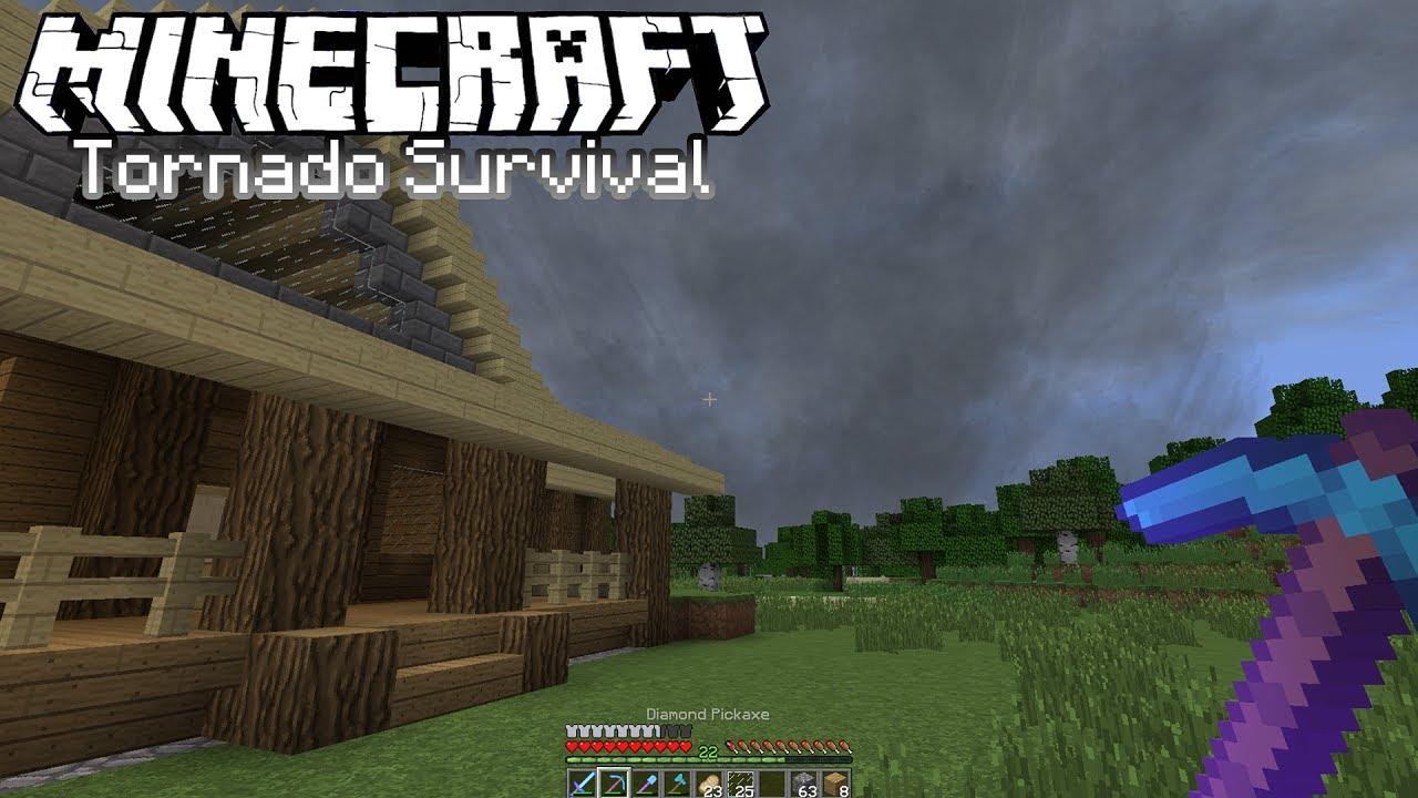 Minecraft Tornado Survival Localized Weather Mod S5e3