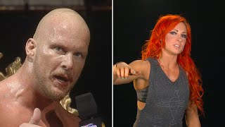 "Becky Lynch reenacts Stone Cold's famous ""Austin 3:16"" speech"