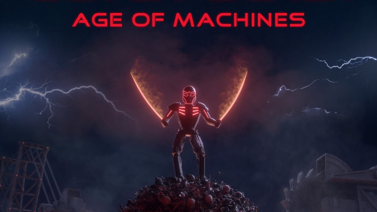 Glitch Black - Age of Machines (Full Album) [Dark Synthwave / Cyberpunk]