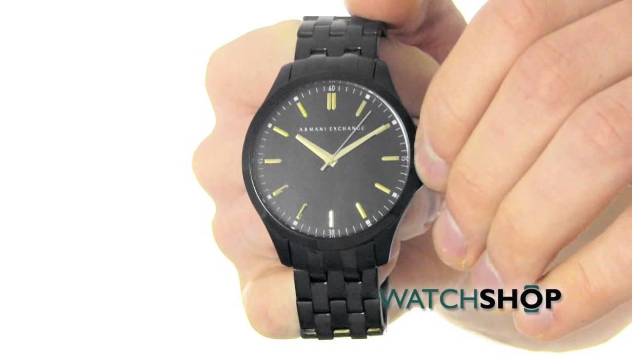83e23e35bf9 Armani Exchange Men s Hampton Low Profile Watch (AX2144) - YouTube