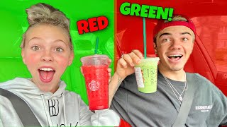 Eating ONLY Red And Green Food For 24 Hours...