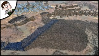 Massive 34000 Medieval Crusader Siege - Ultimate Epic Battle Simulator Gameplay