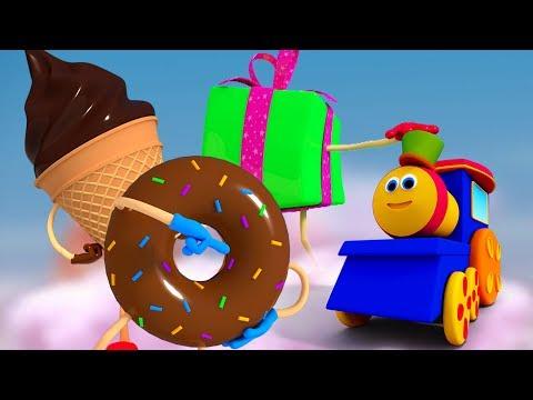 bob treno cioccolato corsia | 3d filastrocche | Canzone prescolare | Song | Bob Train Chocolate Lane