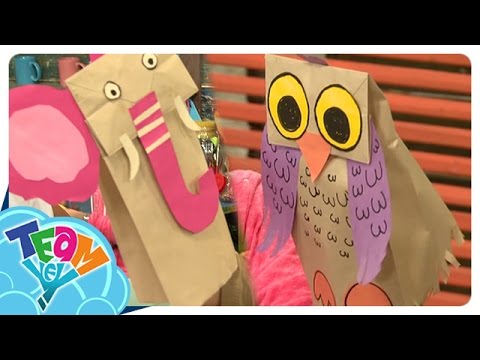 Artstig: Elephant and Owl Paper Bag Puppet | Team Yey Season 2