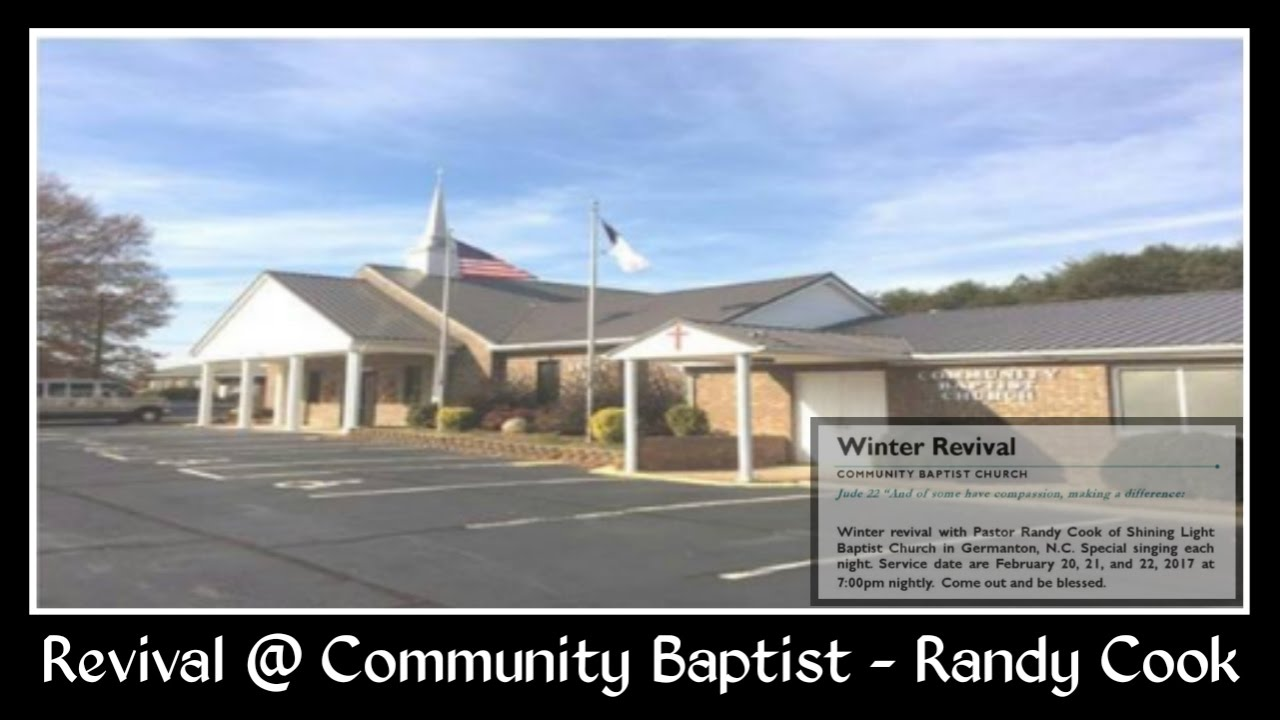 revival service monday night community baptist church danville va