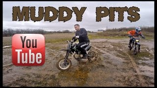 SUPERMOTO PIT BIKES IN THE MUD!
