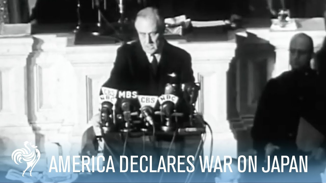 President Franklin D. Roosevelt Declares War on Japan (Full Speech)   War Archives