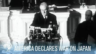 America Declares War on Japan - President Roosevelt Speech [Full Resolution]