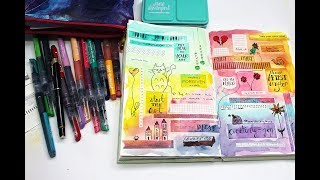 Art doodling with Jane Davenport's products