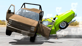 Realistic high speed crashes #19 - beamng drive