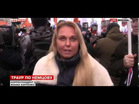 Новости Сегодня. В Москве началось Траурное шествие в память о Борисе Немцове