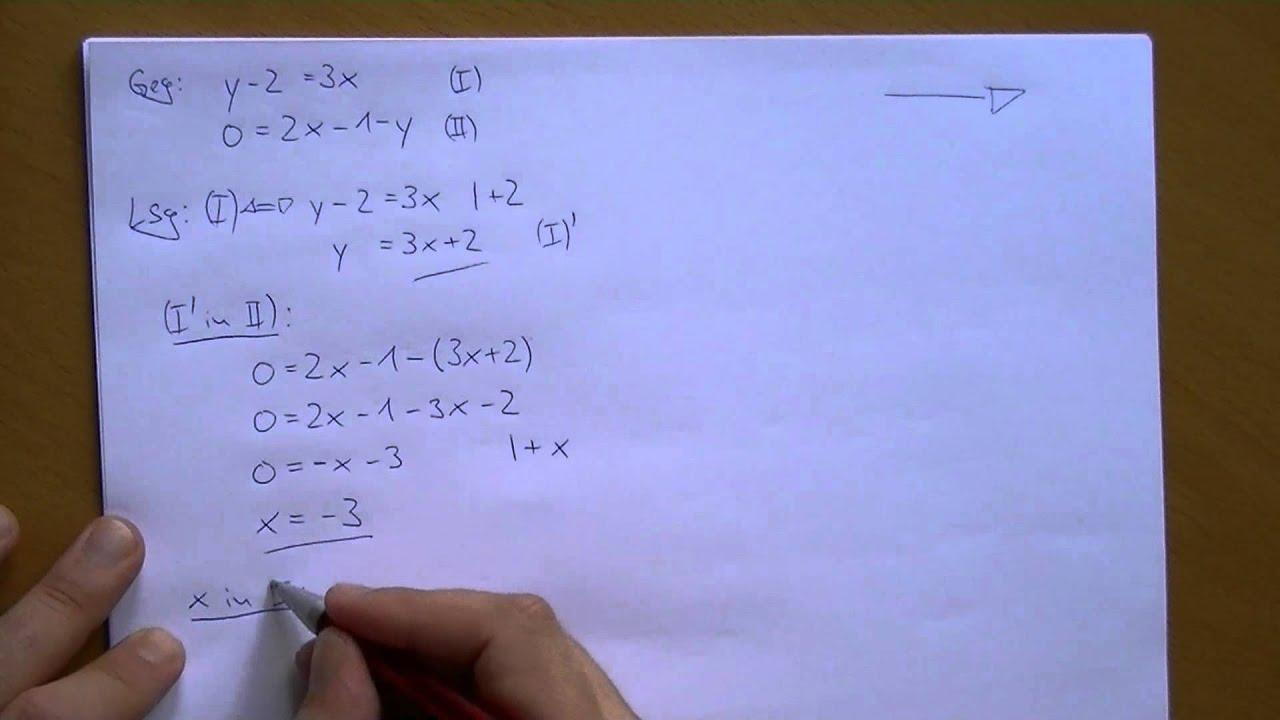 Musterlösung - 2 Gleichungen mit 2 Unbekannten - YouTube