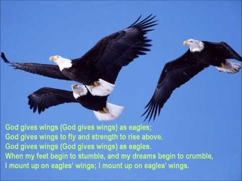 Wings As Eagles {with lyrics} - //Ron Hamilton\\