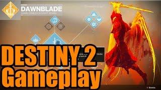 DESTINY 2 GAMEPLAY! NEW DAWNBLADE WARLOCK FULL PVP GAMEPLAY (destiny 2)