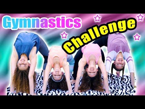 Gymnastics Challenge! (Haschak Sisters)