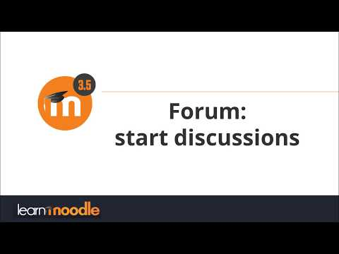 Forum in Moodle 3.5