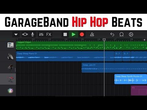 Hip hop beats in GarageBand iOS with the Skyline Heat sound pack