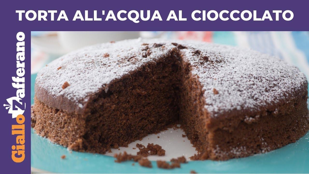 Torta Senza Uova Al Cioccolato.Torta All Acqua Al Cioccolato Torta Senza Latte Senza Burro E Senza Uova