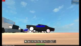 voiture de course roblox faisant un wheelie
