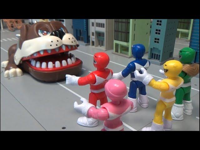 파워레인저 마이티몰핀, 거대 불독을 막아라! Power Rangers Mighty Morphin, stop the Giant Bulldog!