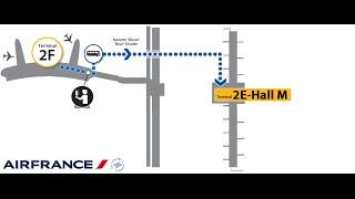 air france paris charles de gaulle terminal 2 transfer from terminal 2f to 2e gates m